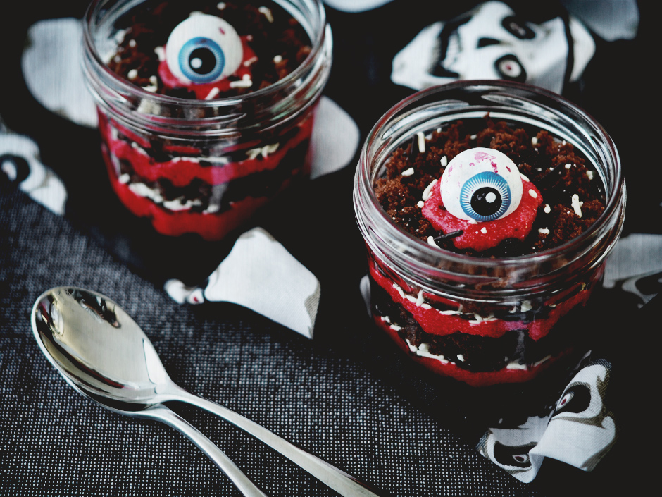 Red Velvet Halloween Trifle