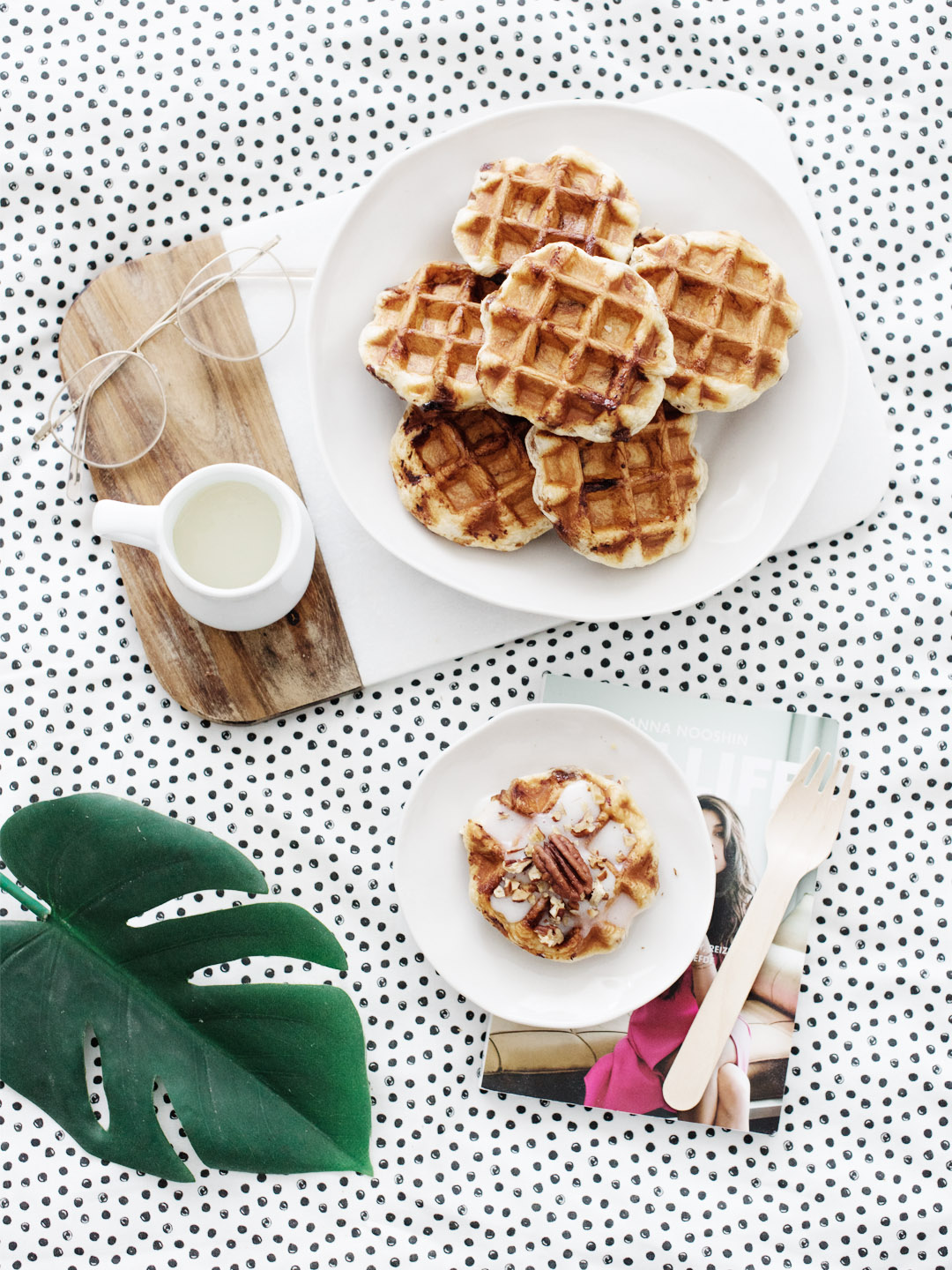 Cinnamon Roll Wafels